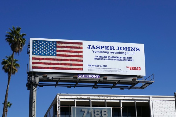 Jasper Johns Broad billboard