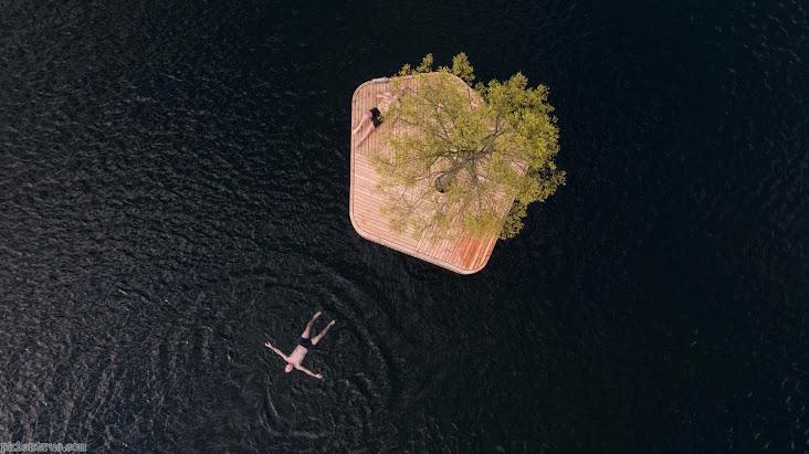 Hòn đảo nổi trồng cây biến thành nơi thư giãn lý tưởng