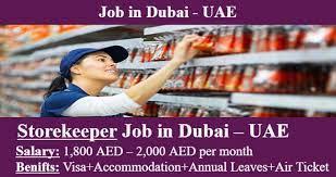 Storekeeper cum Inventory Controller Recruitment in Dubai