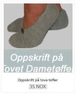 Strikkeoppskrift på tova tøfler