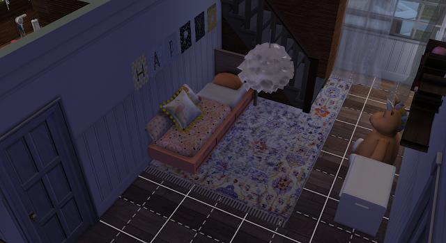 habitación infantil de una casa en los sims 4