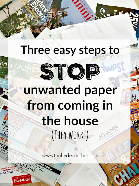 Tips for cutting down paper coming into the house