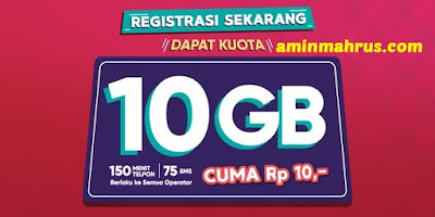 Paket Data Telkomsel Termurah 2018 10GB Full 24Jam