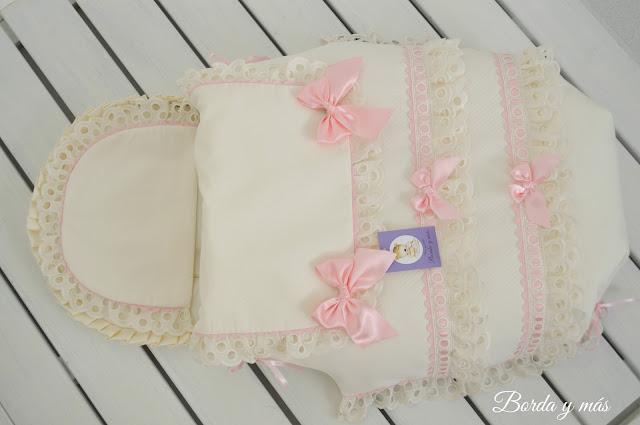 saquito cucco beige rosa bebecar  classic