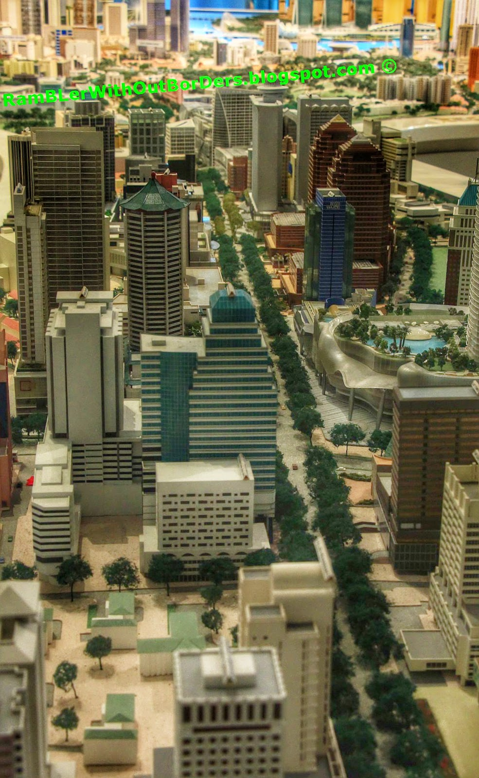 Orchard Road, City Centre Model,  Singapore City Gallery, Singapore