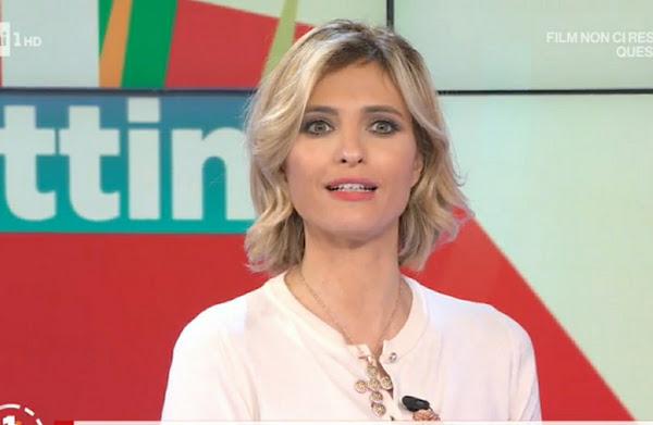 Monica Giandotti bella conduttrice tv bionda