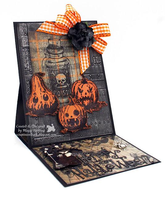 Halloween easel card