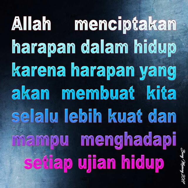 kata mutiara islam harapan dalam hidup