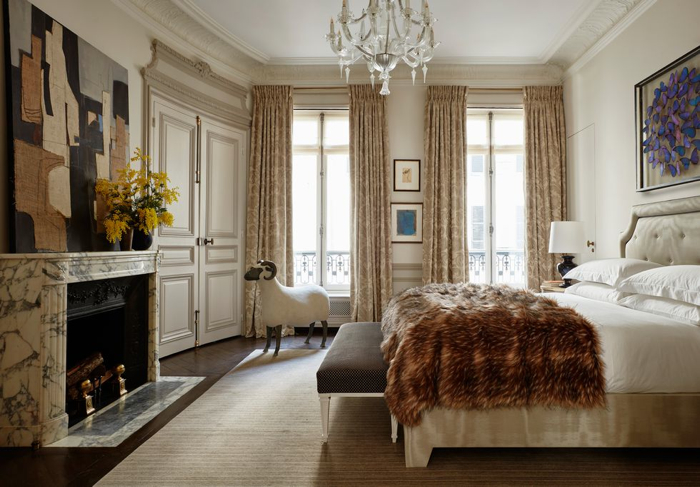 This Paris Apartment Will Make You Swoon- design addict mom #bedroom