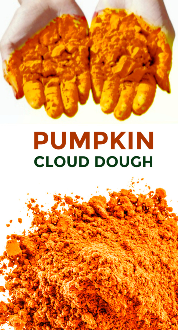 Use this recipe for pumpkin cloud dough in your classroom this Fall!  Cloud dough for arts, crafts, and sensory play. #pumpkincrafts #pumpkinclouddough #pumpkinclouddoughrecipe #pumpkinactivitiespreschool #pumpkinactivities #clouddough #clouddoughrecipe #clouddoughbabyoil #fallcrafts #growingajeweledrose #activitiesforkids