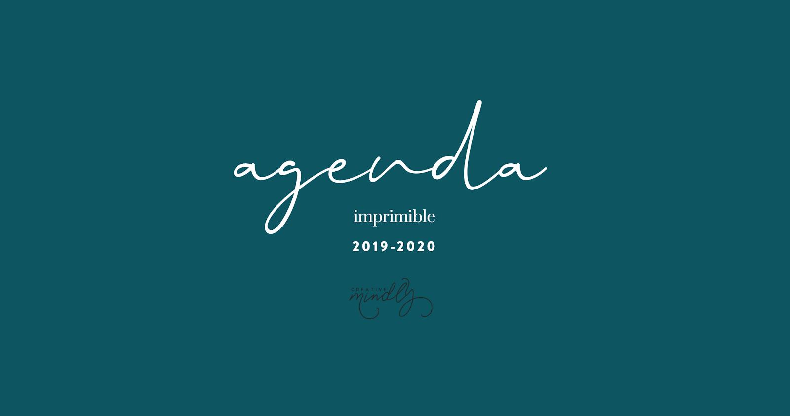 Calendario Agenda 2020 Para Imprimir.Creative Mindly Agenda Imprimible 2019 2020