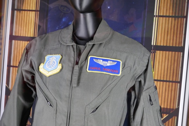 Carol Danvers USAF test pilot flight suit Captain Marvel