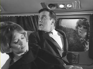 "William Shatner in the Twilight Zone episode ""Nightmare at 20,000 Feet"""