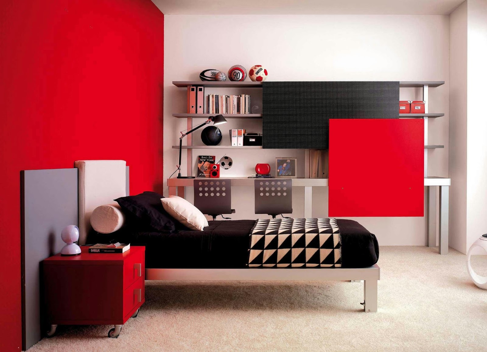 Cool Red And Black Bedroom Designs And Decor Ideas For