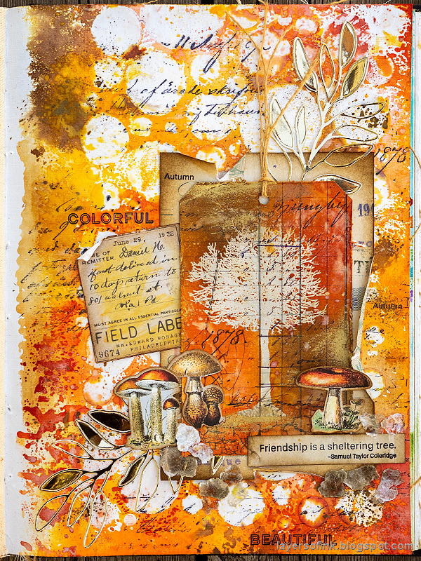 Layers of ink - Inky Resist Circles Art Journal Tutorial by Anna-Karin Evaldsson.