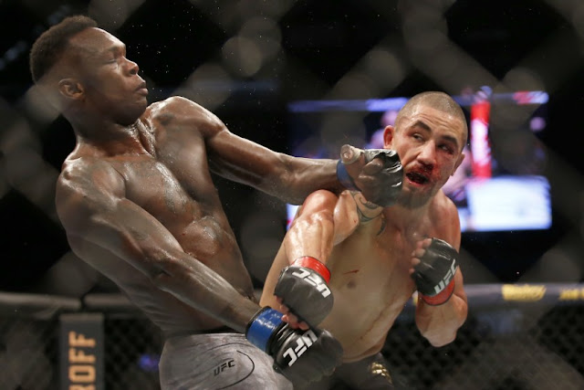 Israel Adesanya Knocks Out Robert Whittaker at UFC 243