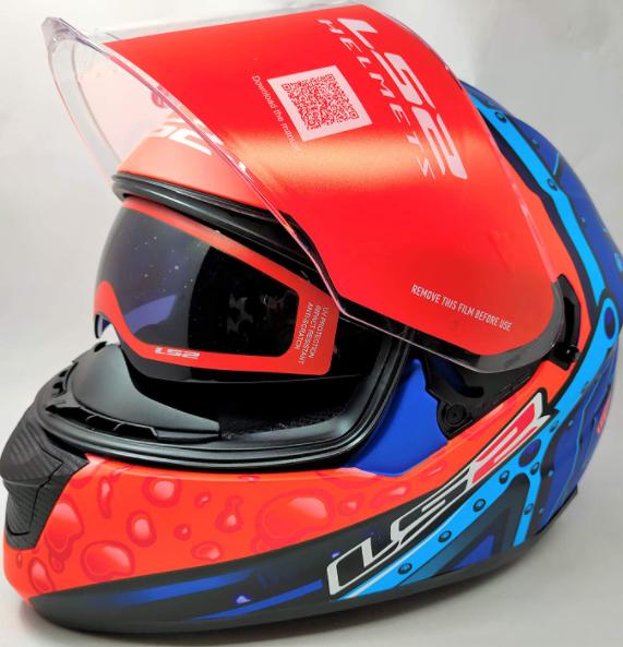 LS2 Helmets - FF320 Stream Evo - Bubble - Matt Black Orange - Dual Visor Full Face Helmet