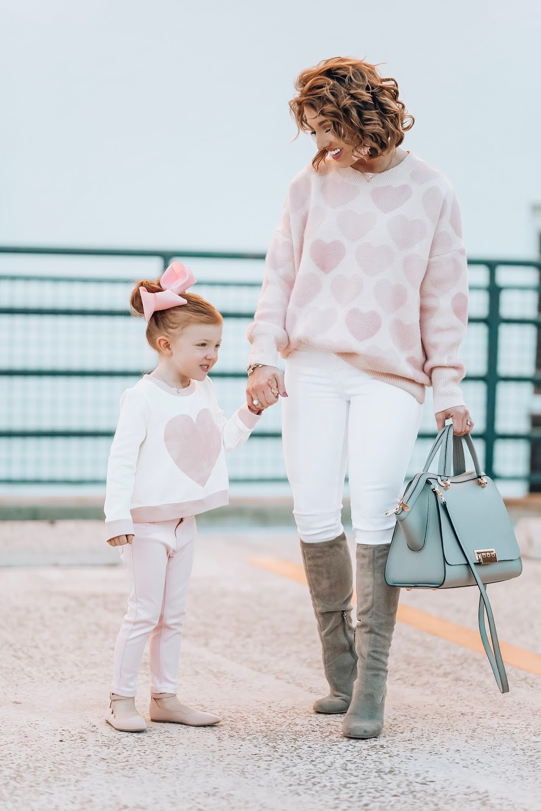 Mommy & Me Style: Pink Hearts for Valentine's Day - Something Delightful Blog