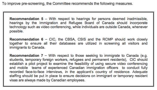 An image of the Committee's 5, 6, 7 recommendations