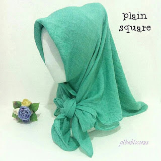 Jual Jilbab Murah Plain Square