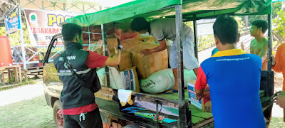 Aliansi Kalbar Peduli Salurkan Bantuan untuk Korban Kebakaran Nanga Nyabau
