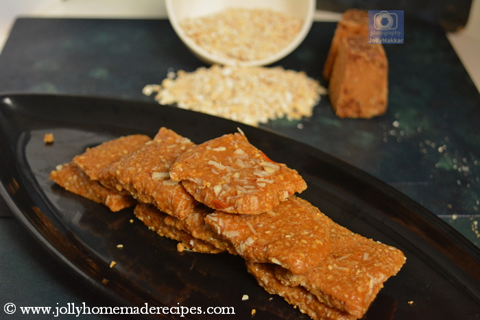 Sesame Burfi with Jaggery