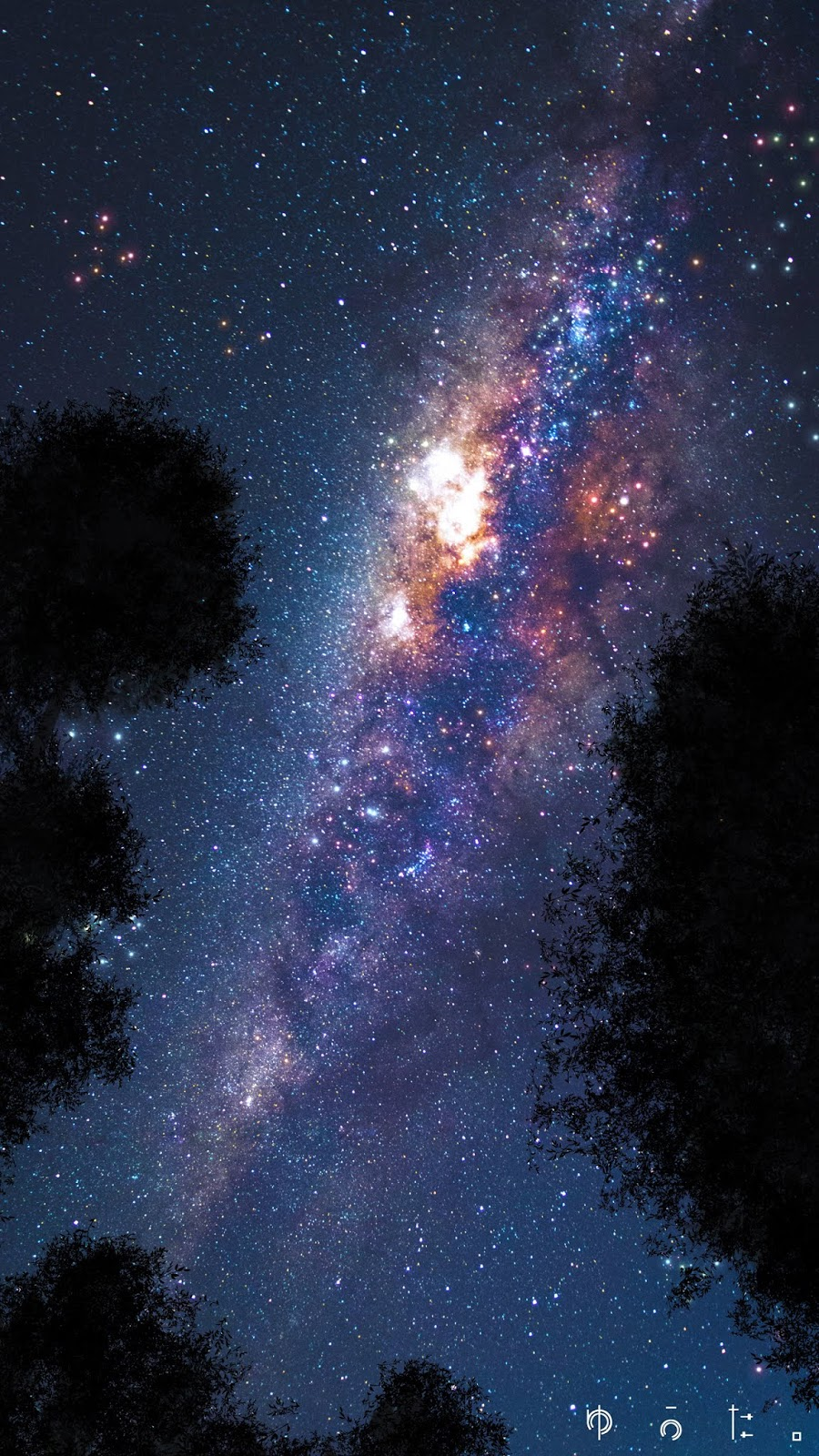 Milky way in the night
