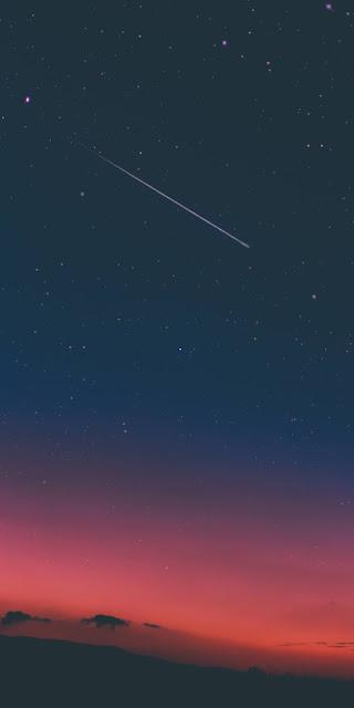 The heavenly night sky
