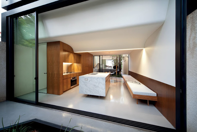 indoor atrium modern design by. Black Bedroom Furniture Sets. Home Design Ideas