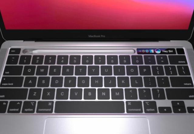 أحدث مفهوم يستبدل Touch Bar في MacBook Pro بقاعدة قلم أبل
