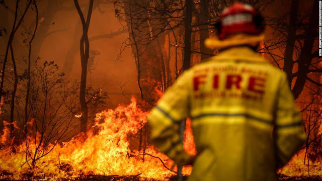 Australia's,showing,stopping,fires