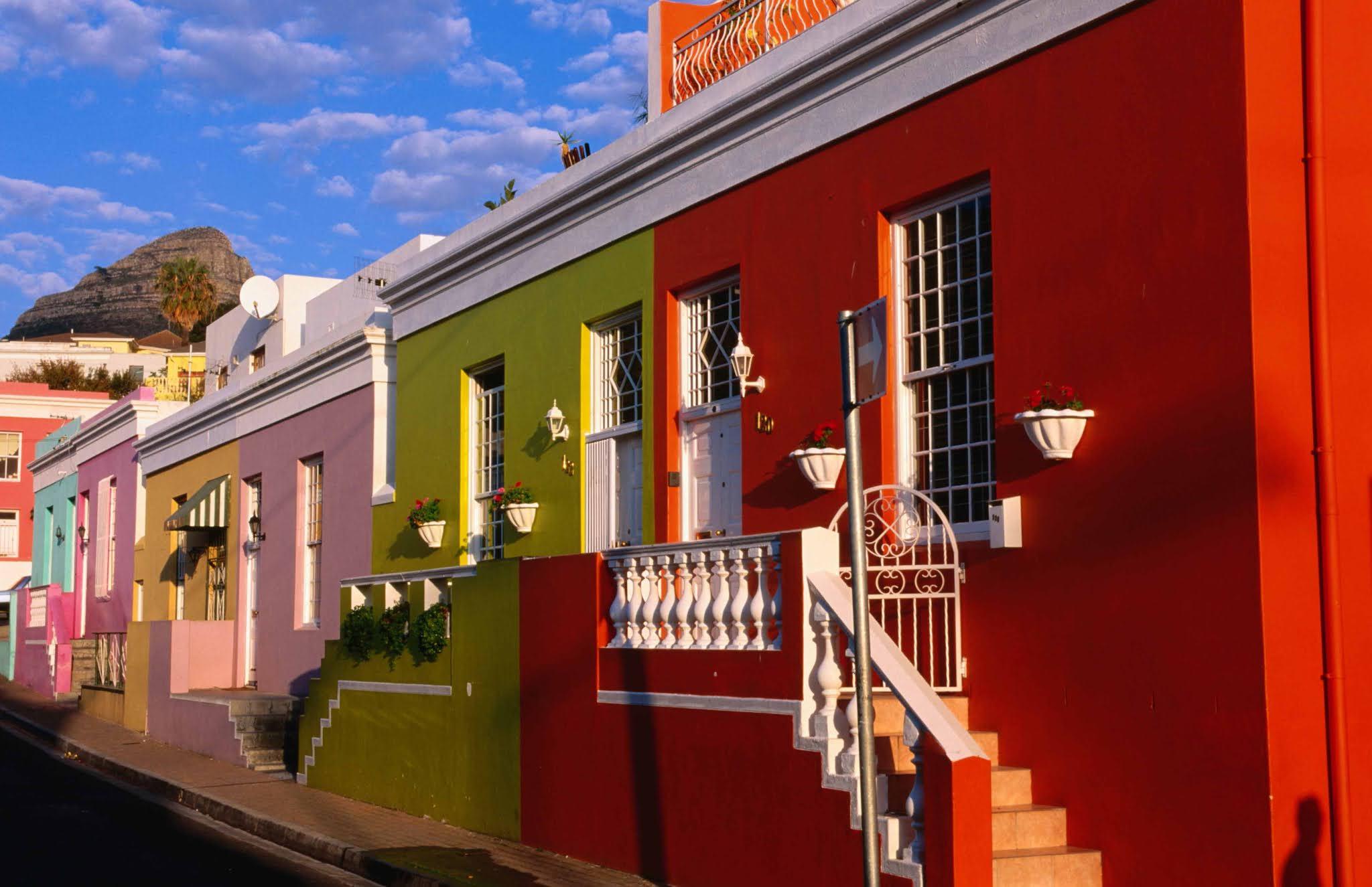 Район Кейптауна Бо-Каап в Южной Африке
