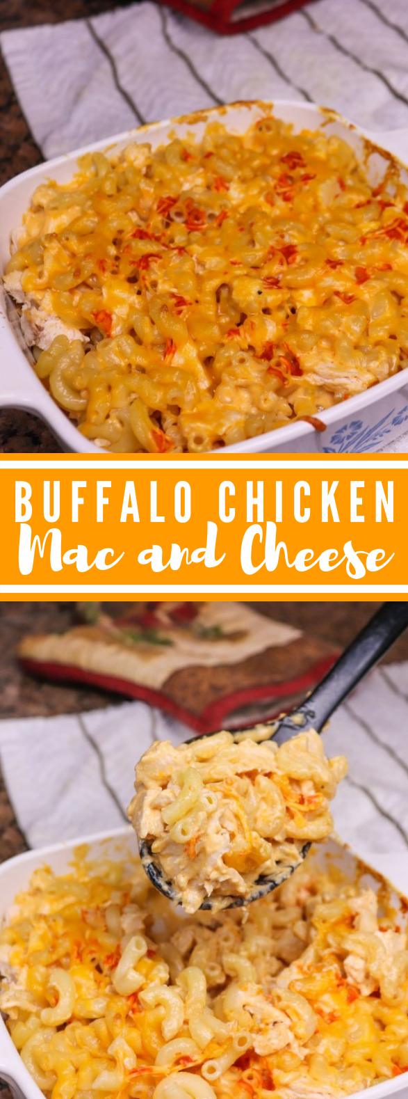 Buffalo Chicken Mac And Cheese #dinner #lunch