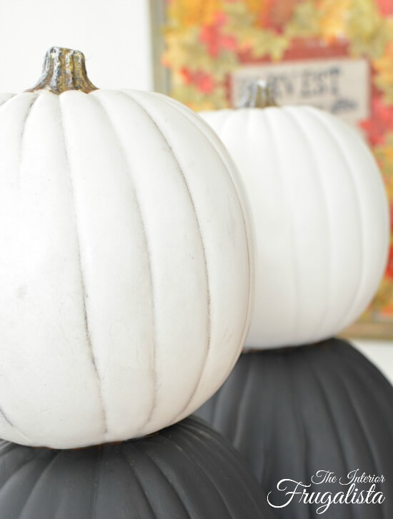 Pumpkin Topiary White Pumpkins