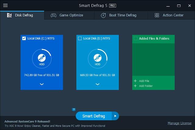 IObit Smart Defrag Pro 5