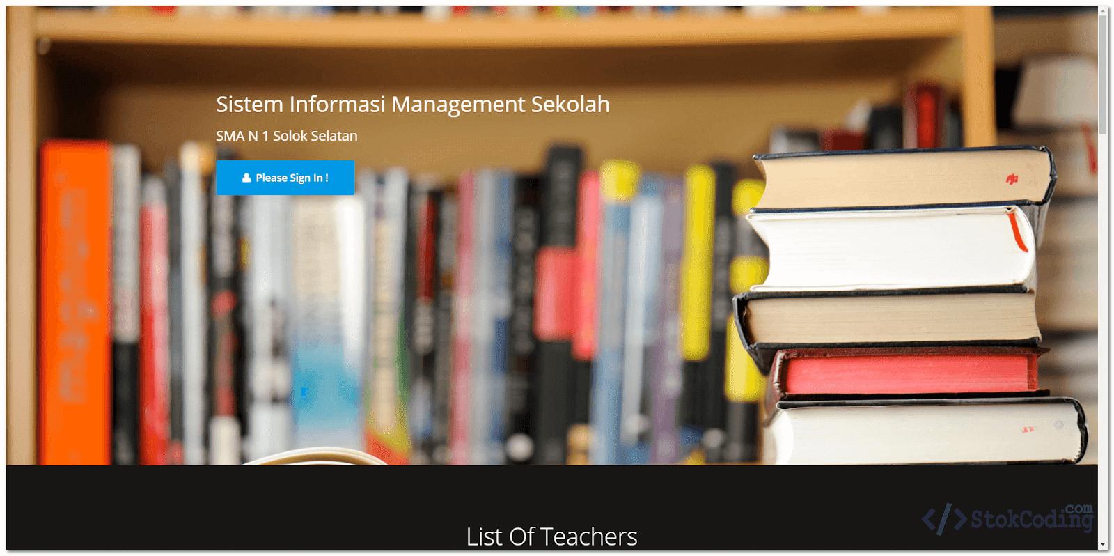 Aplikasi Managemen Sekolah Berbasis Web (PHP)