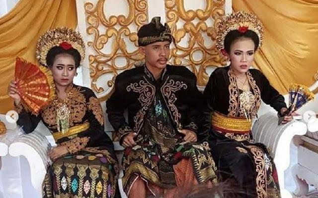 potret seorang siswa SMK di Lombok Nikahi dua gadis sekaligus