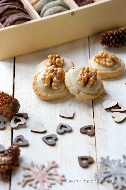 gâteaux noel ,avent , cookies , faciles , citron , noix , glaçage
