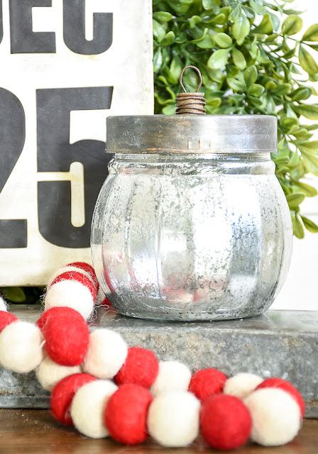 DIY Dollar Tree mercury lass ornament jars