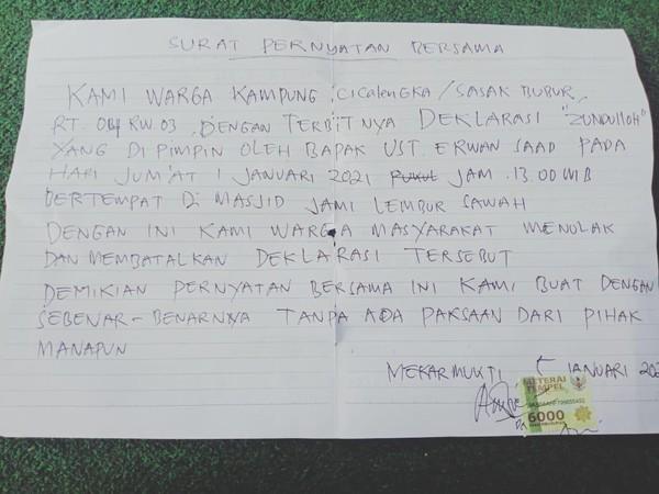 Jemaah Tolak dan Batalkan Deklarasi Tentara Allah di Bandung Barat