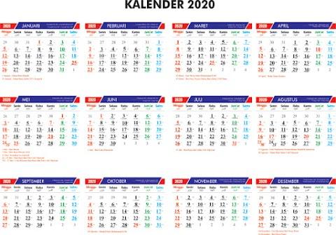 Kalender Indonesia 2020 Template
