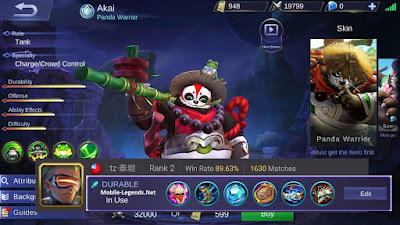 item akai mobile legends