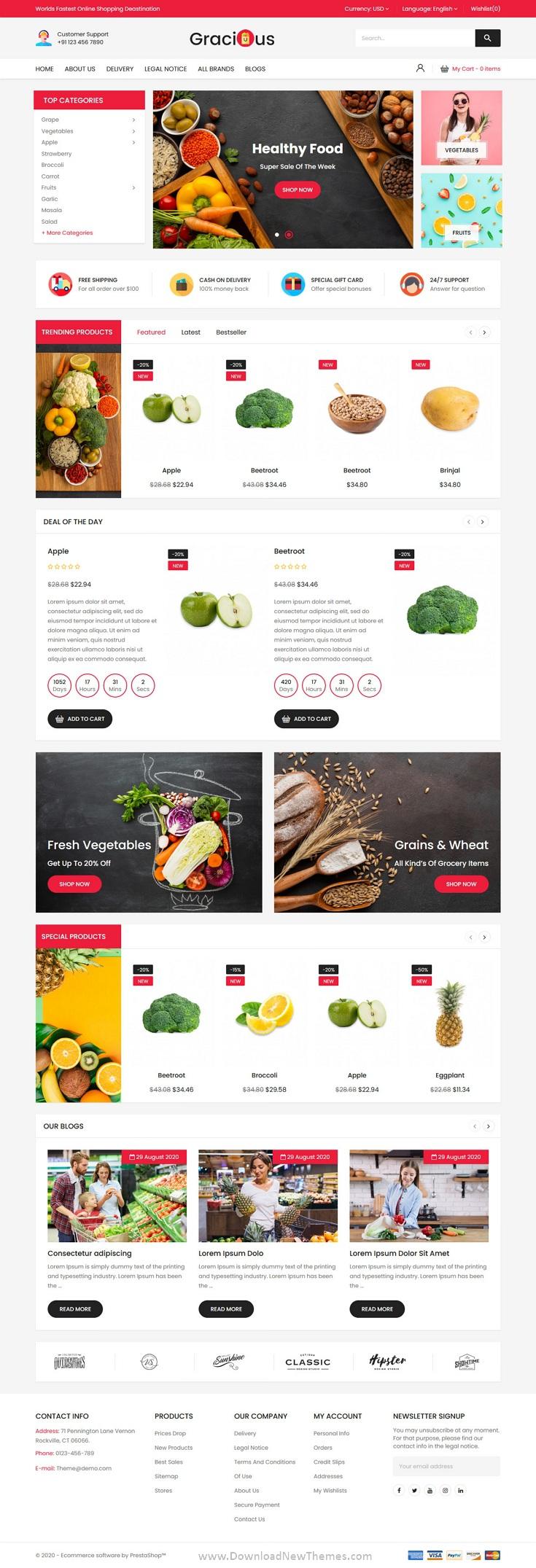 Organic Food Responsive Prestashop Theme
