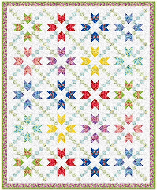 Amorette Quilt Free Pattern designed By Kaye England for Bear Creek Quilting Company