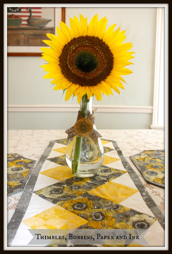 Just Another View Of The Table Runner With The Place Mats And, Of Course,  The Giant Sunflower From The Garden. This Flower Is So Magnificent, ...