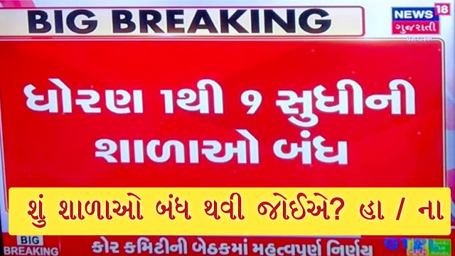 Std. 1 to 9 schools orders closure due to Corona effect by The biggest decision taken by the Gujarat government