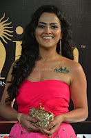 Sraddha in Sleeveless Off Shoulder Pink Dress at IIFA Utsavam Awards March 2017 002.JPG