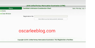 Check where jamb posted you to for 2016-2017 Admission
