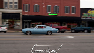 Draggin Douglas Blue Plymouth Barracuda