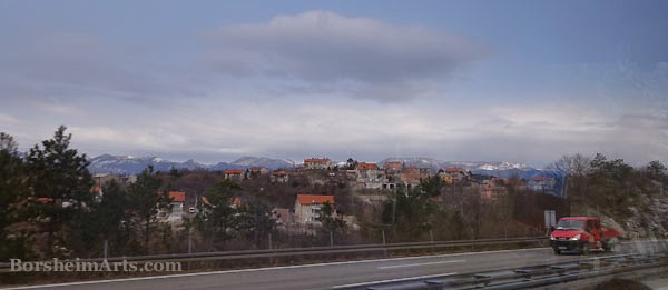 Bus from Croatia to Serbia - Window View